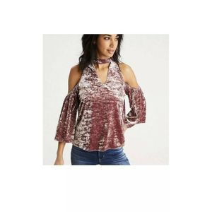 American Eagle Outfitters Size M Velvet Blouse